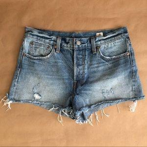 Levi's | White Oak Cone Denim Cutoff Shorts